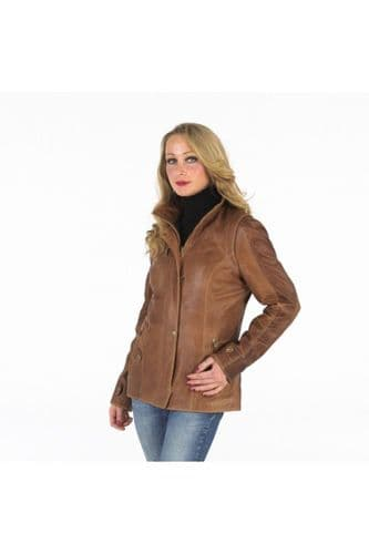 Womens Leather Jacket Tan